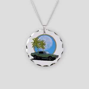 67 Mustang Necklace Circle Charm