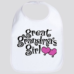 Great Grandma's Girl Cotton Baby Bib