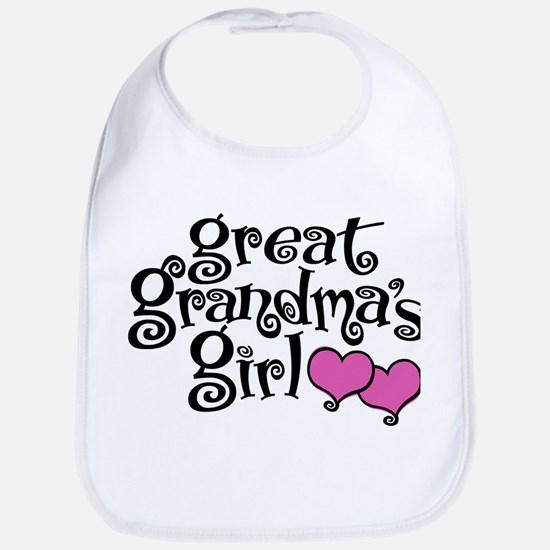 Great Grandma's Girl Cotton Baby Bib