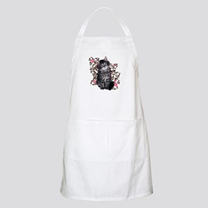 Cute Blue-eyed Tabby Cat Apron