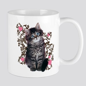 Cute Blue-eyed Tabby Cat Mug