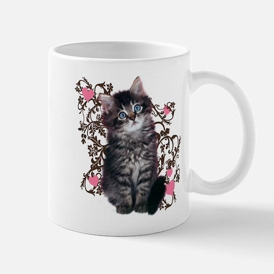 Cute Blue-eyed Tabby Cat Mug