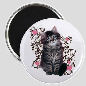 Cute Blue-eyed Tabby Cat Magnet