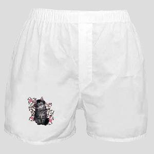Cute Blue-eyed Tabby Cat Boxer Shorts