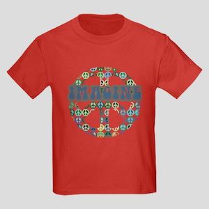 Cool 70s Retro Peace Kids Dark T-Shirt