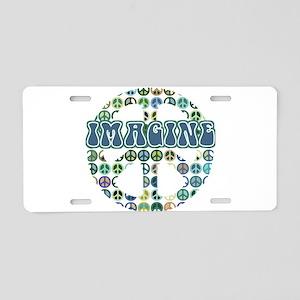 Cool 70s Retro Peace Aluminum License Plate