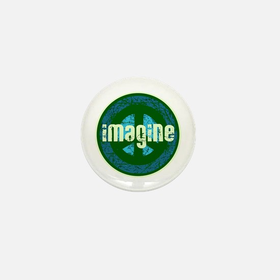 Cool Retro Imagine Peace Mini Button