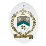 SANFACON Family Crest Oval Ornament
