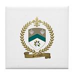 SANFACON Family Crest Tile Coaster