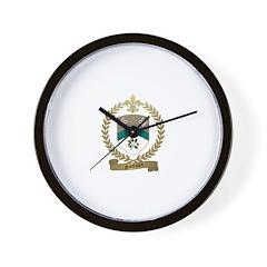 SANFACON Family Crest Wall Clock