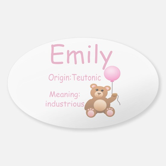 Top 10 Girl Names Sticker Oval