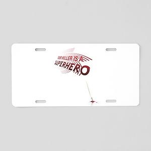 Superhero Aluminum License Plate