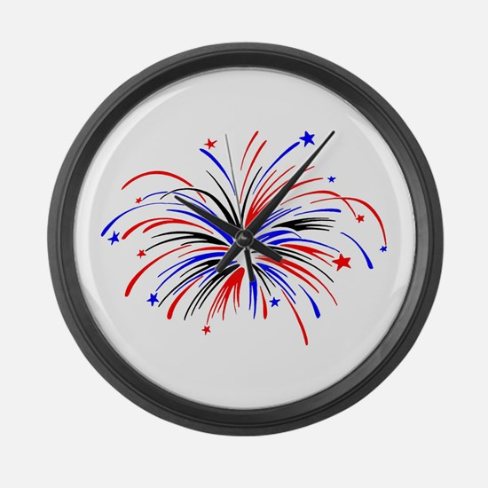Fireworks Large Wall Clock