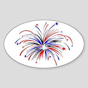 Fireworks Sticker (Oval)