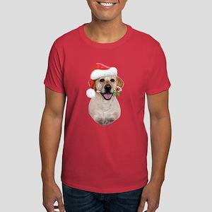 Yellow Lab Santa Dark T-Shirt