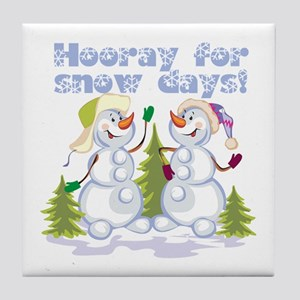 Funny Winter Snow Humor Tile Coaster