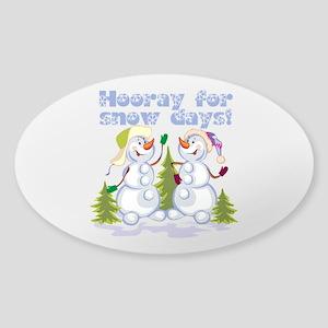 Funny Winter Snow Humor Sticker (Oval)
