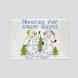 Funny Winter Snow Humor Rectangle Magnet