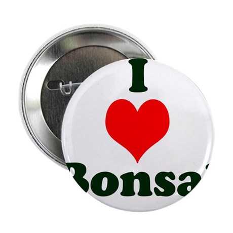 """I Love Bonsai (with heart) 2.25"""" Button (100 pack)"""