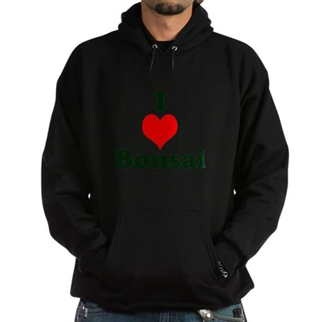 I Love Bonsai (with heart) Hoodie (dark)