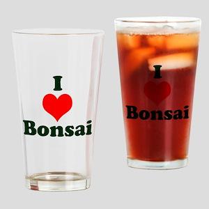 I Love Bonsai (with heart) Drinking Glass