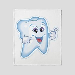 Funny Dentist Dental Humor Throw Blanket