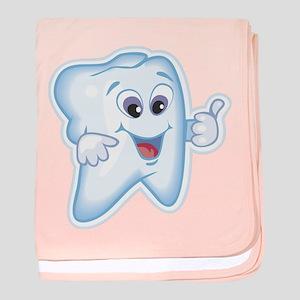 Funny Dentist Dental Humor baby blanket