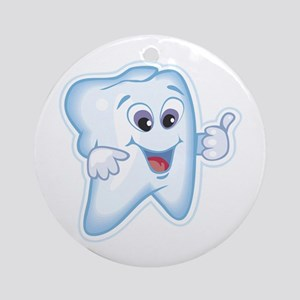 Funny Dentist Dental Humor Ornament (Round)