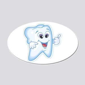 Funny Dentist Dental Humor 22x14 Oval Wall Peel