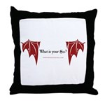 """""""What Is Your Sin?"""" Throw Pillow"""