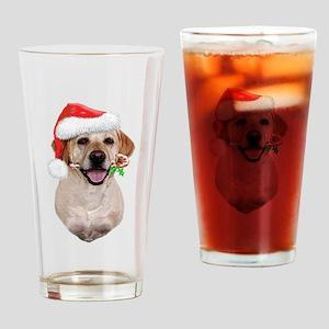 Yellow Lab Santa Drinking Glass