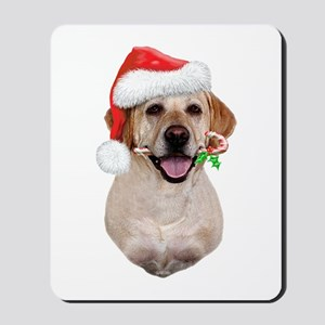 Yellow Lab Santa Mousepad