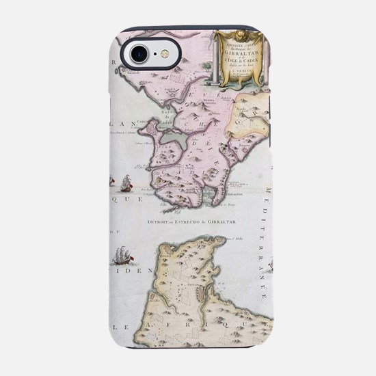 Vintage Map of The Strait of G iPhone 7 Tough Case
