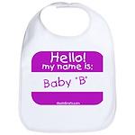 baby b nametag (pink) Bib