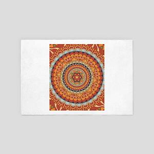 Bohemian Boho Chic Mandala 4' x 6' Rug