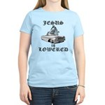 Jesus Is Lowered Women's Light T-Shirt