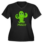 Hugs? Women's Plus Size V-Neck Dark T-Shirt