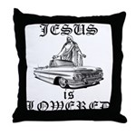 Jesus Is Lowered Throw Pillow