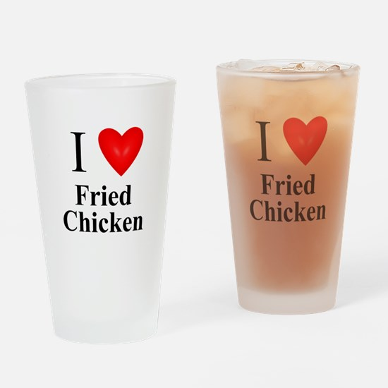 Unique Love fried chicken Drinking Glass