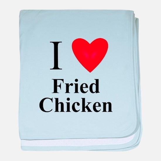 Cute Love fried chicken baby blanket