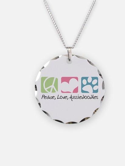Peace, Love, Aussiedoodles Necklace
