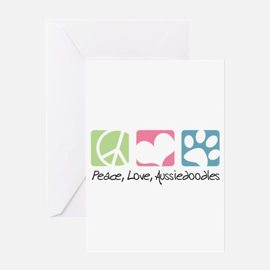 Peace, Love, Aussiedoodles Greeting Card