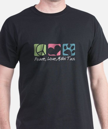 Peace, Love, Malti Tzus T-Shirt