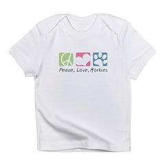 Peace, Love, Morkies Infant T-Shirt