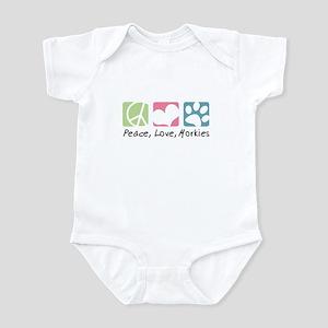 Peace, Love, Morkies Infant Bodysuit