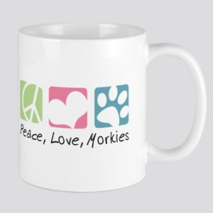 Peace, Love, Morkies Mug
