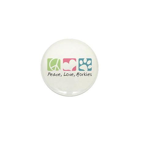Peace, Love, Morkies Mini Button (10 pack)