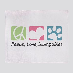Peace, Love, Schnoodles Throw Blanket