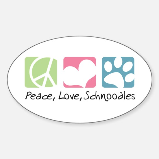 Peace, Love, Schnoodles Sticker (Oval)