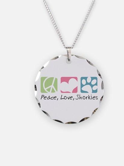 Peace, Love, Shorkies Necklace